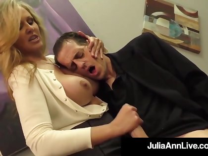 Julia Ann is a screwing blondie female, who loves to touch boners and make them pour out