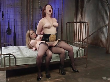 Wonderful strap-on porn for two big ass lesbians