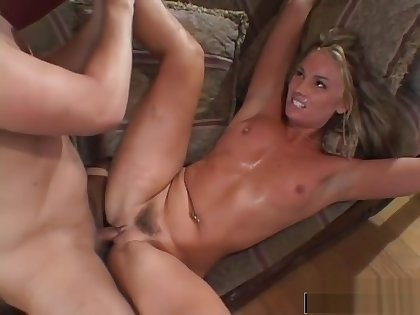 Cute blonde gets her asshole drilled
