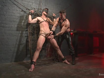 Gagged gay lover leaves his starring role master to go full mode on him