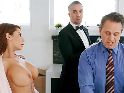 Unpredictable intensify butler is ready to anal fuck housewife