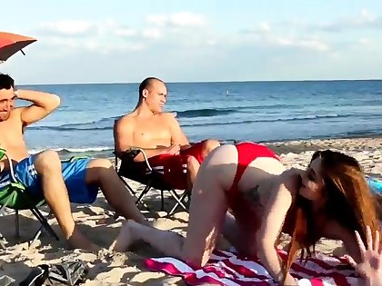 Mom fucks boss' comrade's son threesome xxx Beach
