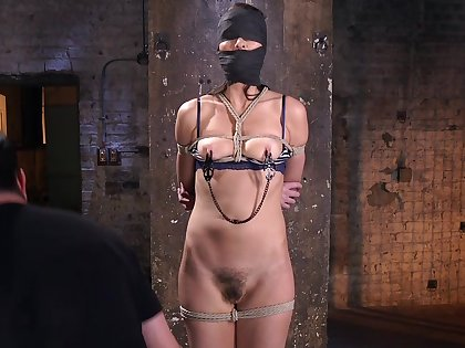 Horny Bianca Feeling wants to try all sex machines and BDSM games