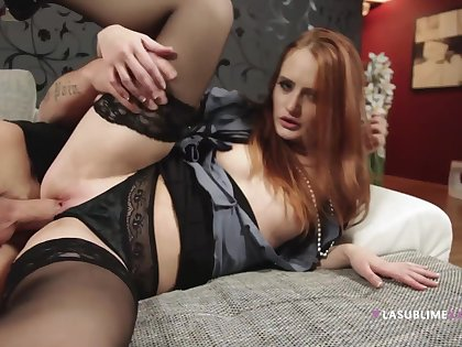 Denisa Heaven gets nailed thither her lingerie and takes a facial cumshot