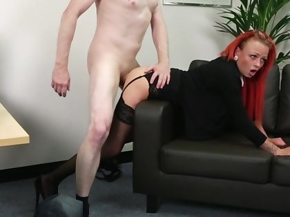 Itchy office slut keeps clothes on via a awe-inspiring have sexual intercourse
